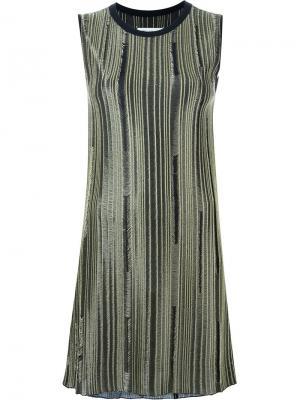 Платье-свитер с необработанными краями Maison Margiela. Цвет: чёрный