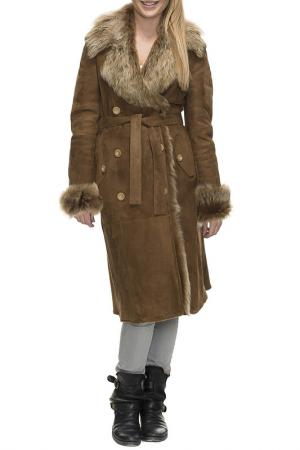 Sheepskin coat Jean Guise. Цвет: brown