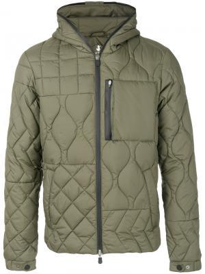 Стеганая куртка Save The Duck. Цвет: зелёный