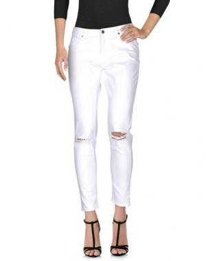 Джинсовые брюки GAëLLE. Цвет: белый