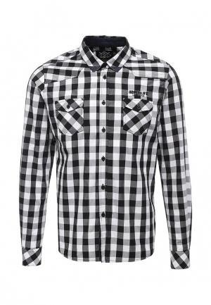 Рубашка Hopenlife. Цвет: черно-белый