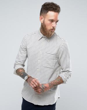 Nudie Jeans Рубашка в вертикальную полоску Co. Цвет: белый
