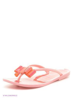 Шлепанцы Mon Ami. Цвет: бледно-розовый, персиковый