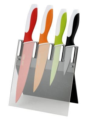 Набор ножей Calve. Цвет: оранжевый,зеленый,красный