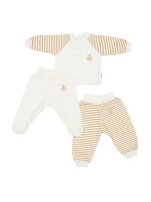 Комплект для малышей M-BABY. Цвет: бежевый