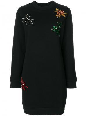 Платье с заклепками Gaelle Bonheur. Цвет: чёрный