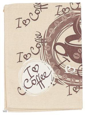 Полотенца Кофе, 2 шт., с петелькой GrandStyle. Цвет: коричневый, серый