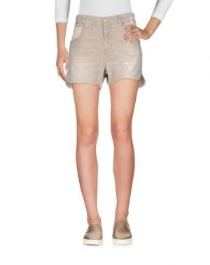 Джинсовые шорты 2W2M. Цвет: темно-коричневый