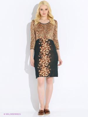 Платье M.Rena. Цвет: оранжевый