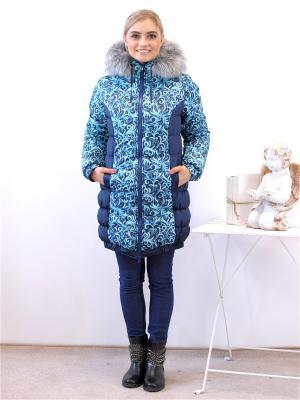 Куртка Адель. Цвет: темно-синий, голубой