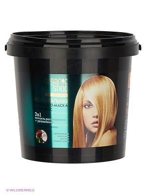 Маска-био express моментальная для волос 1000мл Organic Shop. Цвет: черный