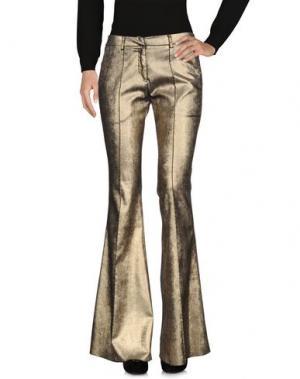 Повседневные брюки NUDE. Цвет: золотистый