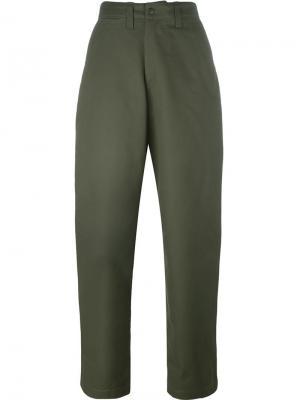 Широкие брюки E. Tautz. Цвет: телесный