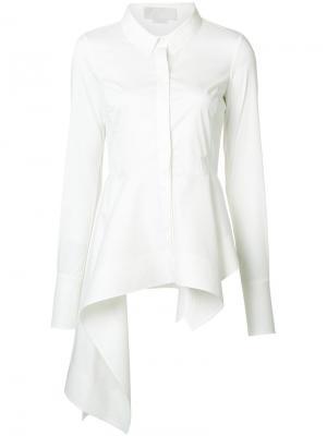Асимметричная рубашка Monse. Цвет: белый