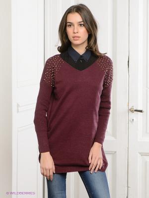 Пуловер Vero moda. Цвет: сливовый