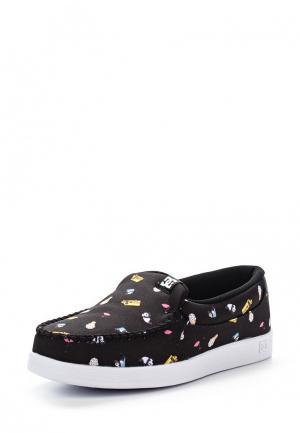 Слипоны DC Shoes. Цвет: черный