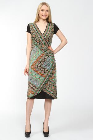 Платье с драпировкой по линии бедра Arrangee. Цвет: черный