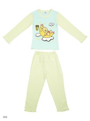 Пижама K&R BABY. Цвет: светло-голубой, желтый, красный