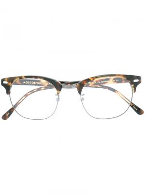 Очки Yukel Moscot. Цвет: коричневый