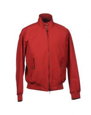 Куртка BARACUTA. Цвет: красный