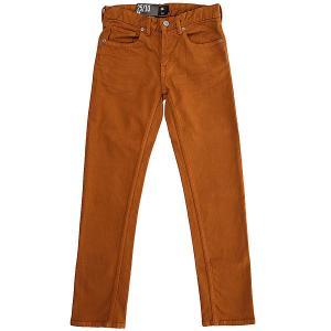 Штаны узкие детские DC Sumner Slim Pant Wheat Shoes. Цвет: коричневый