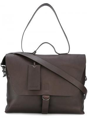 Большая сумка через плечо Marsèll. Цвет: коричневый