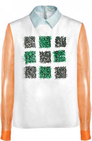 Блуза Delpozo. Цвет: разноцветный