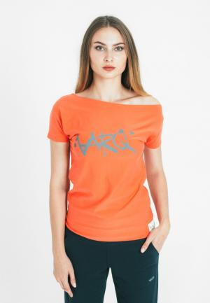 Футболка Varg. Цвет: оранжевый