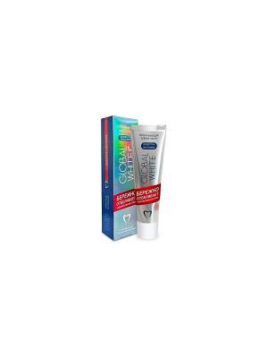 Зубная паста отбеливающая для чувствительных зубов, 100 мл Global White. Цвет: серебристый, белый, красный, синий