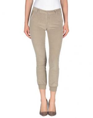 Повседневные брюки KRYTIK. Цвет: голубиный серый