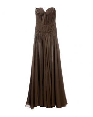 Длинное платье DSQUARED2. Цвет: темно-коричневый