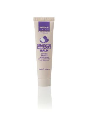 Бальзам для губ с маслом ши Purple Tree Miracle Balm Shea Butter. Цвет: бежевый