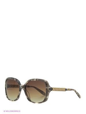 Солнцезащитные очки MO 776S 02 MOSCHINO. Цвет: серый, зеленый
