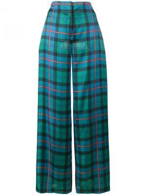 Лоскутные широкие брюки Batti Esteban Cortazar. Цвет: многоцветный