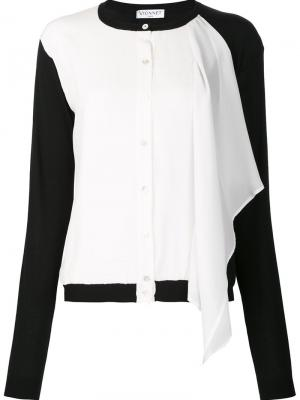 Рубашка с контрастными рукавами Vionnet. Цвет: белый