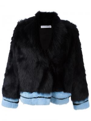Куртка из овчины Ines & Marechal. Цвет: чёрный