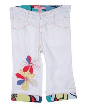 Повседневные брюки BEETLEJUICE. Цвет: белый