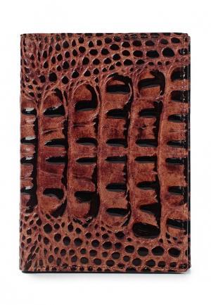Обложка для документов Franchesco Mariscotti. Цвет: коричневый