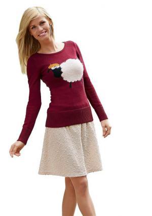 Пуловер Y.O.U.. Цвет: бордовый