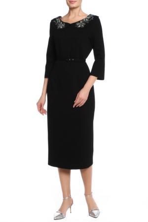 Платье, ремень VDP. Цвет: черный
