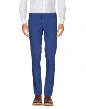 Повседневные брюки MASSIMO BRUNELLI. Цвет: синий