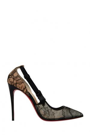 Туфли Hot Jeanbi 100 Christian Louboutin. Цвет: черный