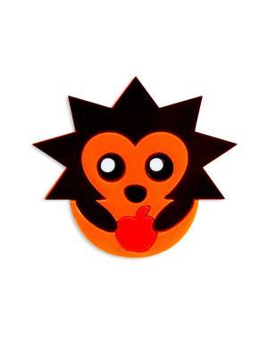 Ежик Сплетница. Цвет: черный, коричневый, оранжевый