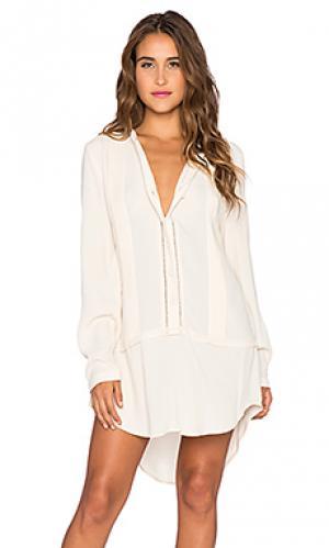 Платье-рубашка embroidered Bishop + Young. Цвет: белый