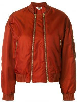 Куртка-бомбер с двухсторонней молнией Kenzo. Цвет: жёлтый и оранжевый