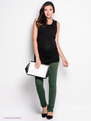 Брюки для беременных ФЭСТ. Цвет: зеленый