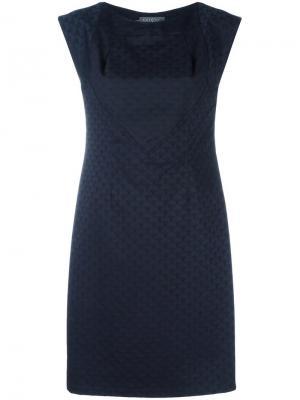 Жаккардовое приталенное платье Cotélac. Цвет: синий