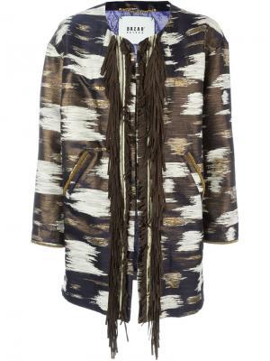 Жаккардовое пальто Bazar Deluxe. Цвет: многоцветный