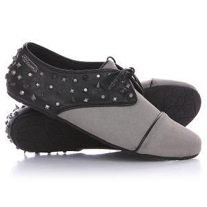 Кеды кроссовки низкие женские  One Way Shoe Black Volcom. Цвет: серый,черный