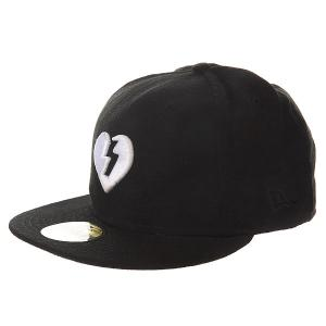 Бейсболка с прямым козырьком  Heart Black/White Mystery. Цвет: черный